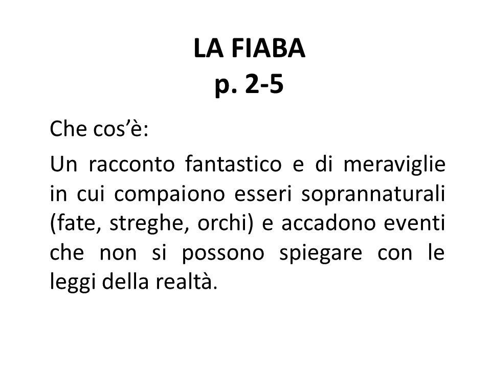 LA FIABA p. 2-5 Che cos'è: