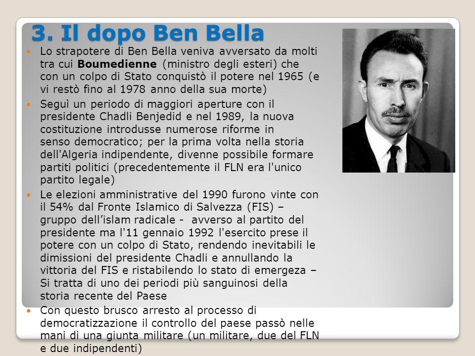 3. Il dopo Ben Bella
