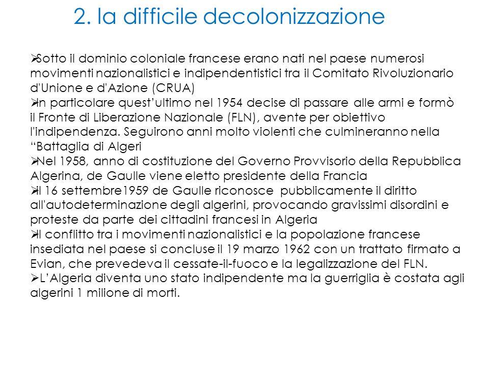 2. la difficile decolonizzazione