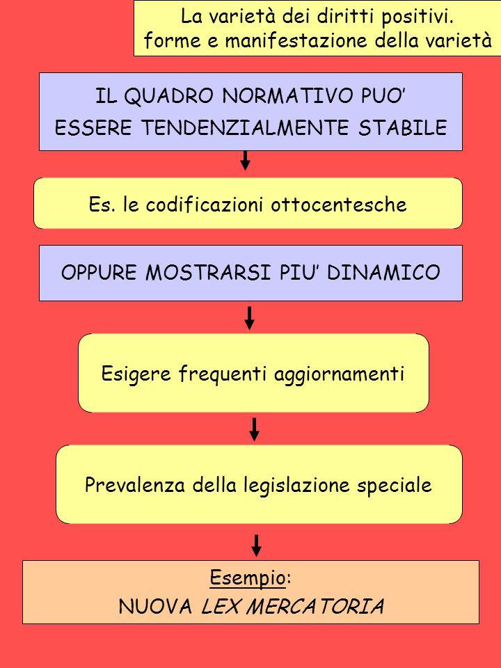 La varietà dei diritti positivi. forme e manifestazione della varietà