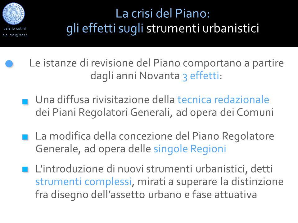 gli effetti sugli strumenti urbanistici