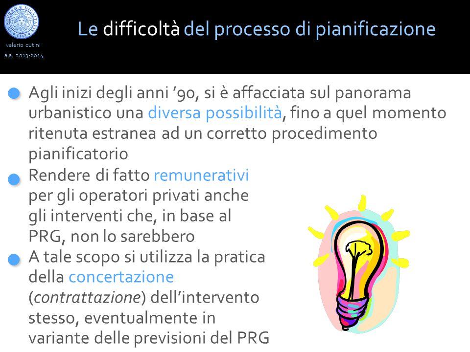 Le difficoltà del processo di pianificazione