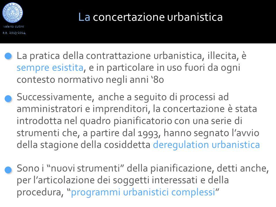 La concertazione urbanistica