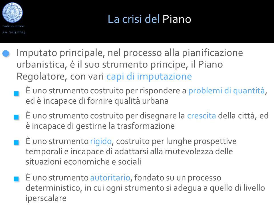 La crisi del Piano valerio cutini. a.a. 2013-2014.