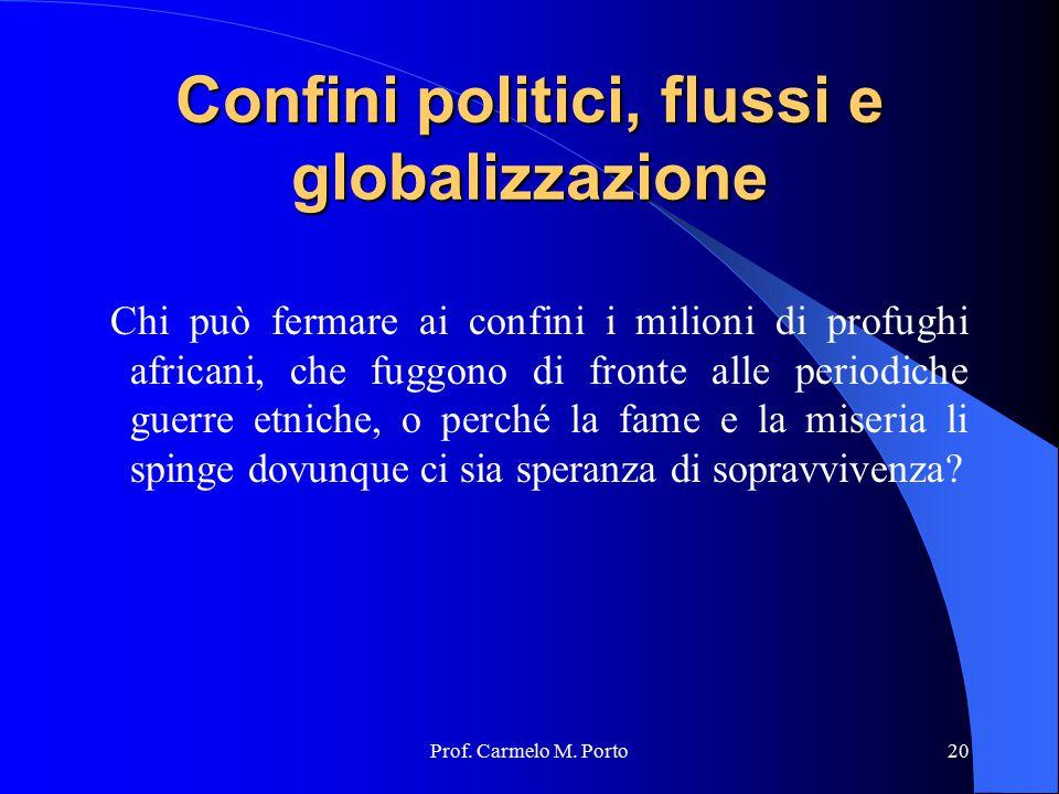 Confini politici, flussi e globalizzazione