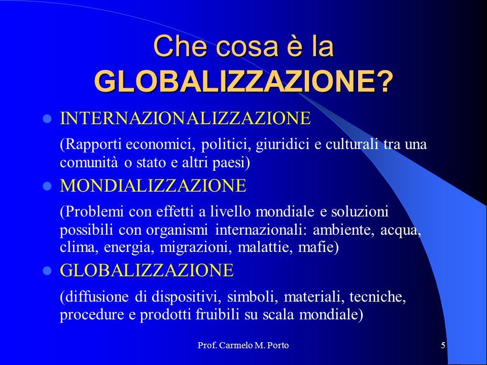 Che cosa è la GLOBALIZZAZIONE