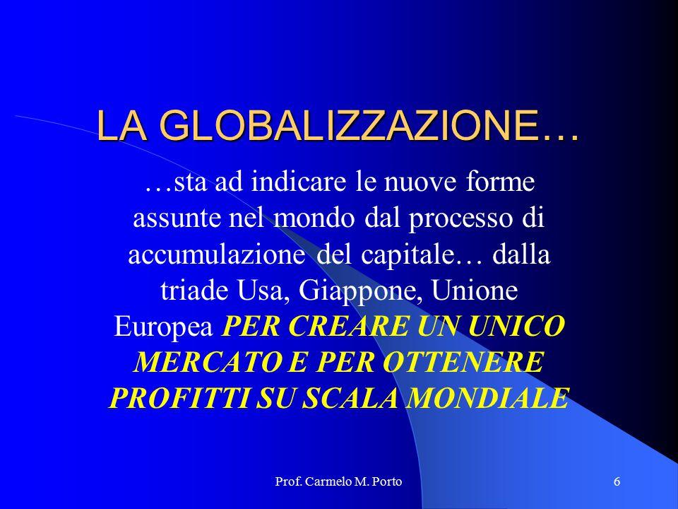 LA GLOBALIZZAZIONE…