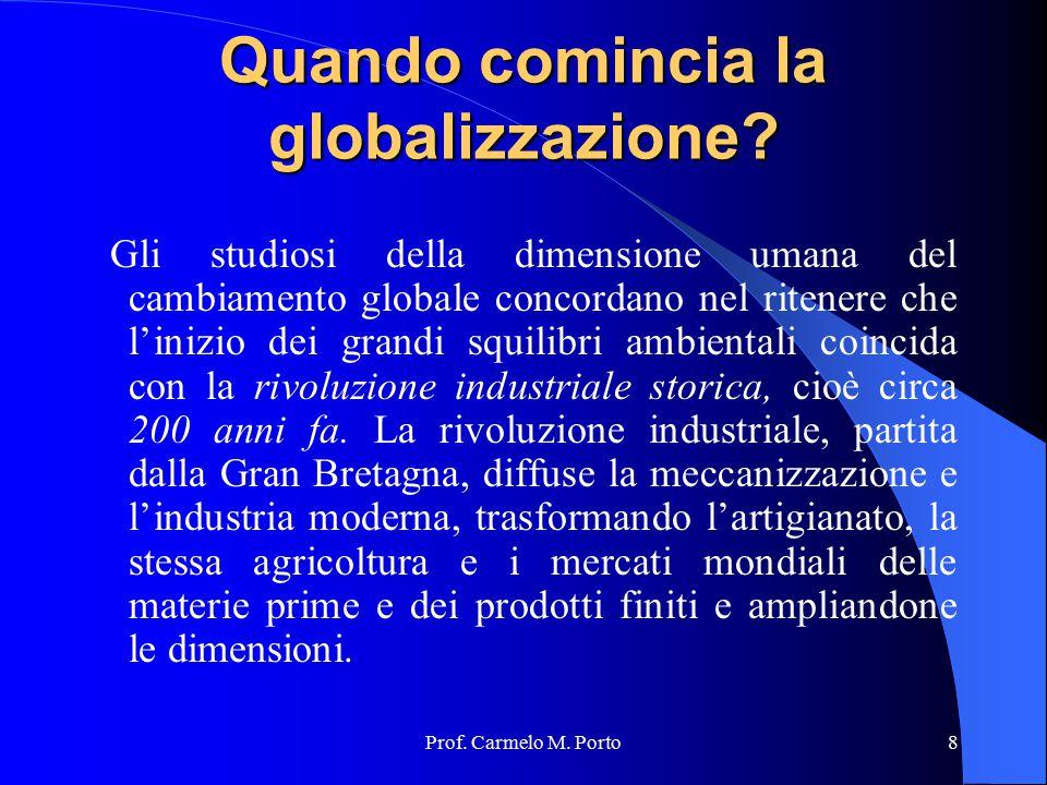 Quando comincia la globalizzazione