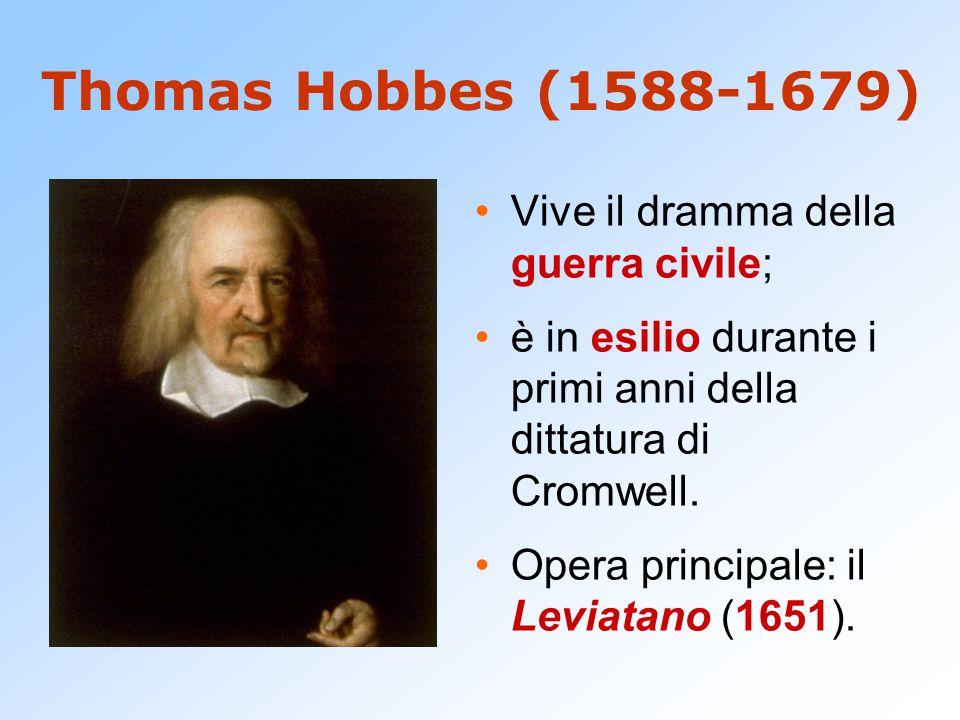 Thomas Hobbes (1588-1679) Vive il dramma della guerra civile;