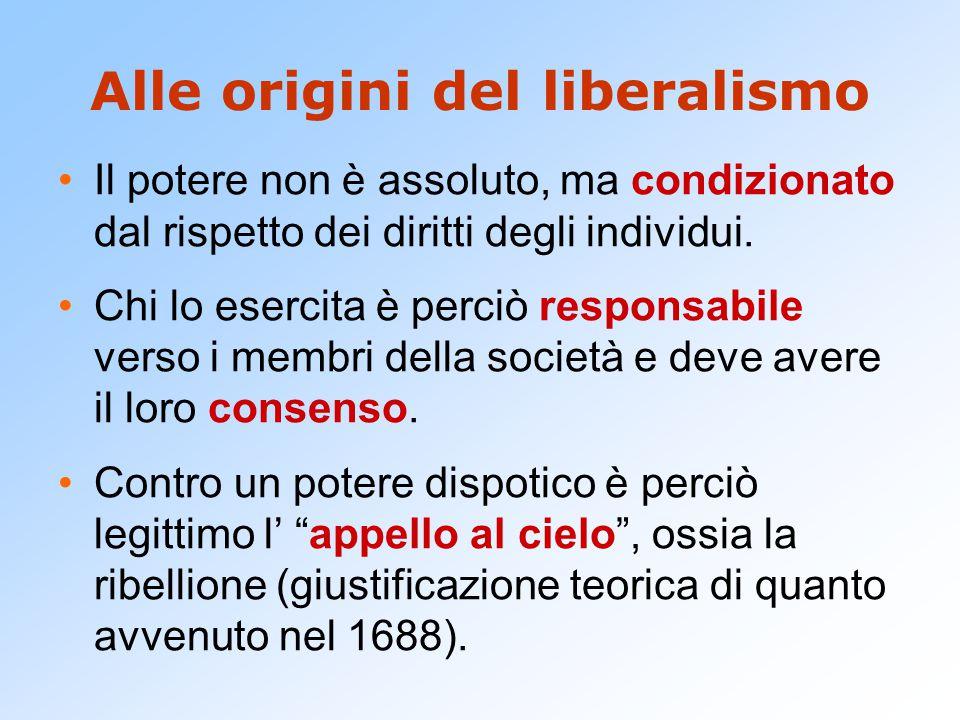 Alle origini del liberalismo