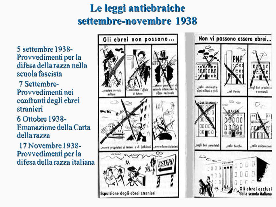 Le leggi antiebraiche settembre-novembre 1938
