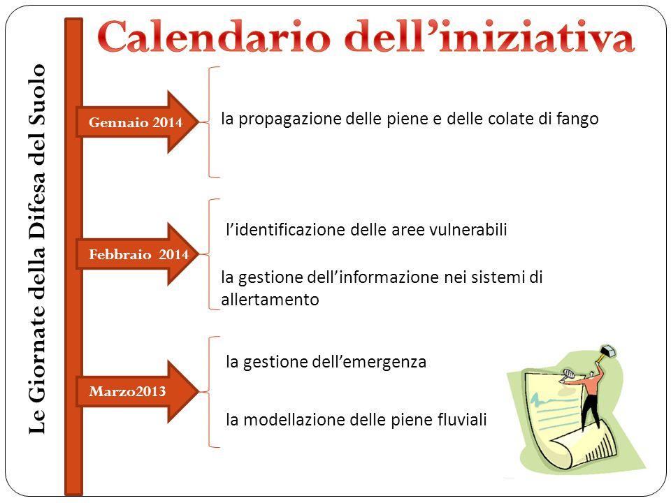 Calendario dell'iniziativa