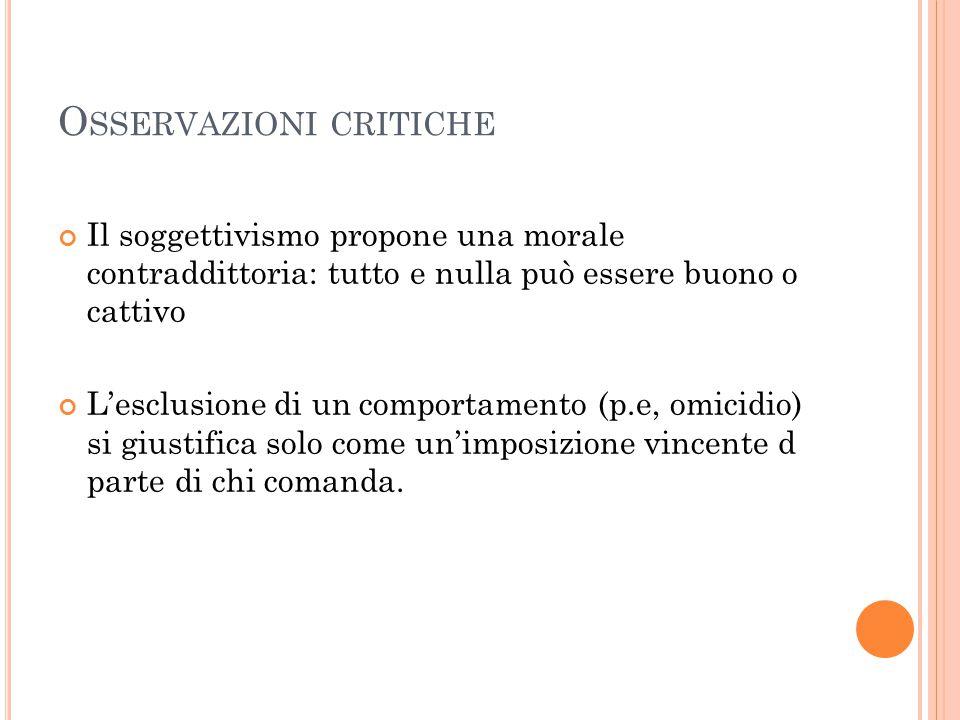 Osservazioni critiche