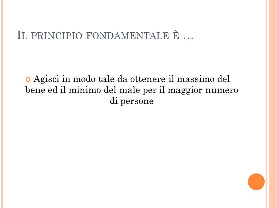 Il principio fondamentale è …