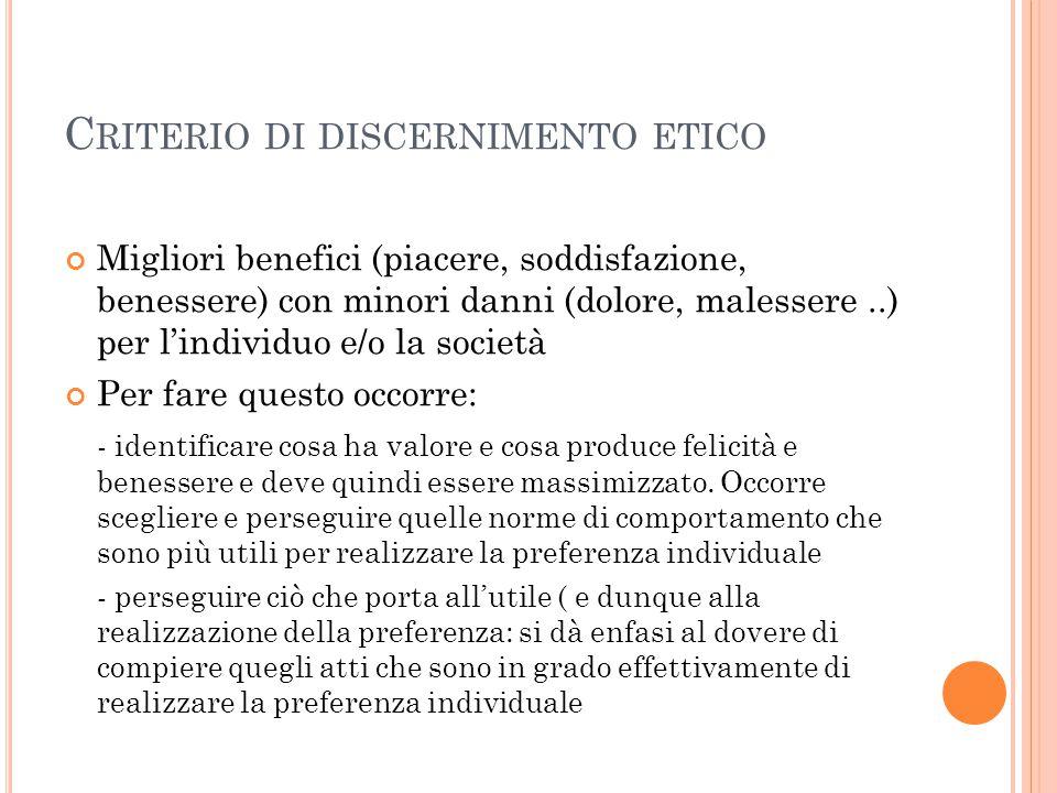 Criterio di discernimento etico