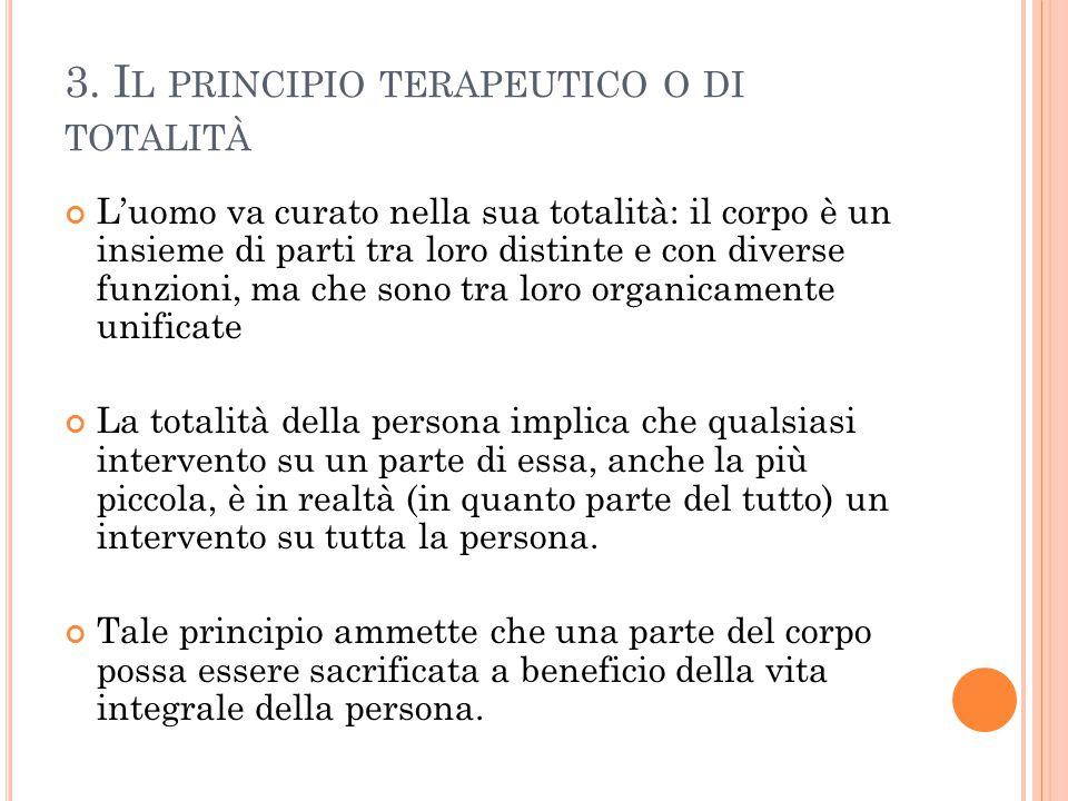 3. Il principio terapeutico o di totalità