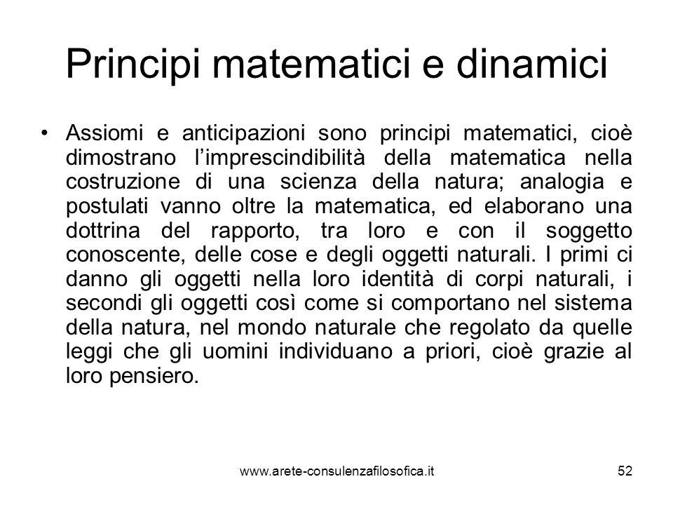 Principi matematici e dinamici