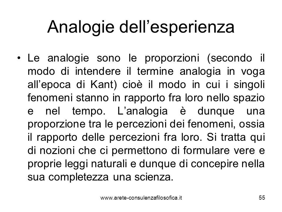 Analogie dell'esperienza