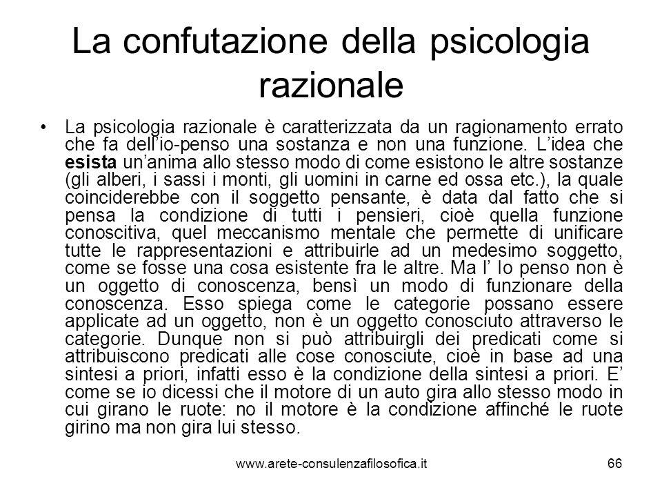 La confutazione della psicologia razionale