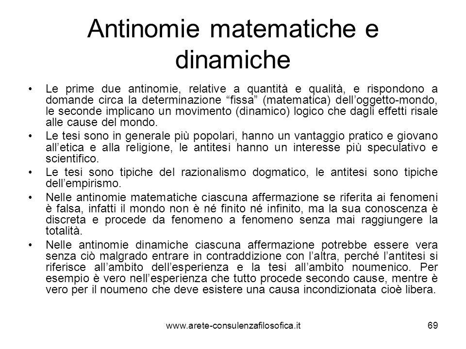 Antinomie matematiche e dinamiche