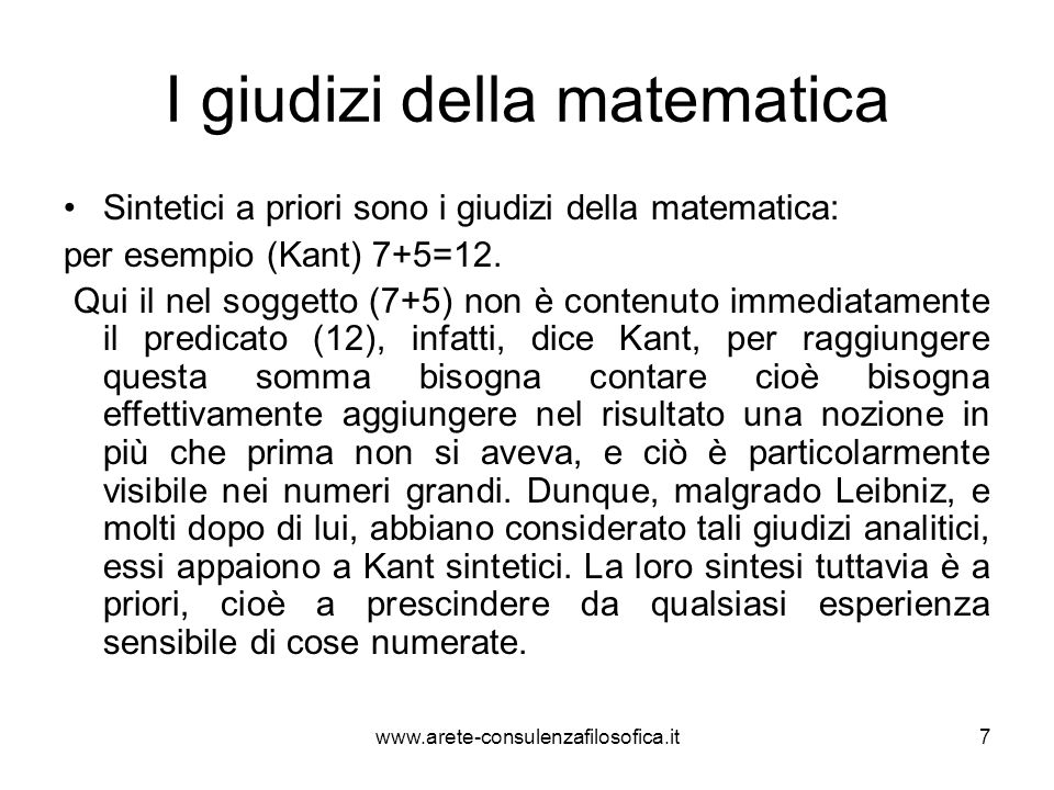 I giudizi della matematica