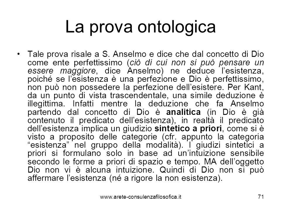 La prova ontologica