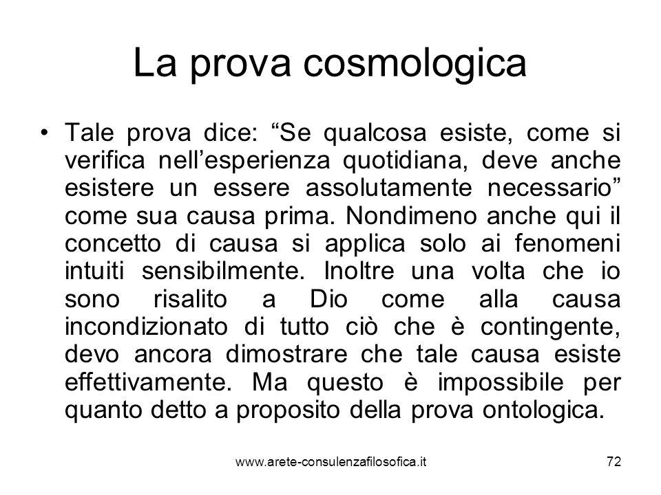 La prova cosmologica