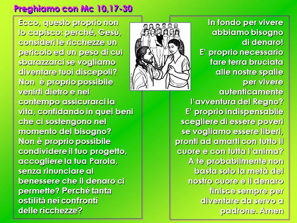 Preghiamo con Mc 10,17-30