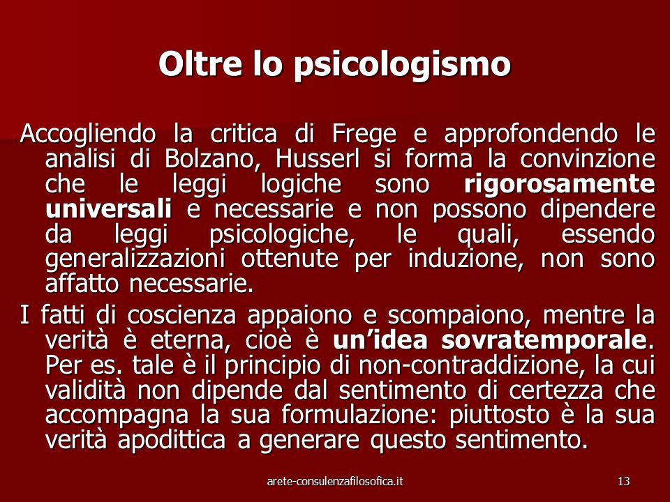 Oltre lo psicologismo