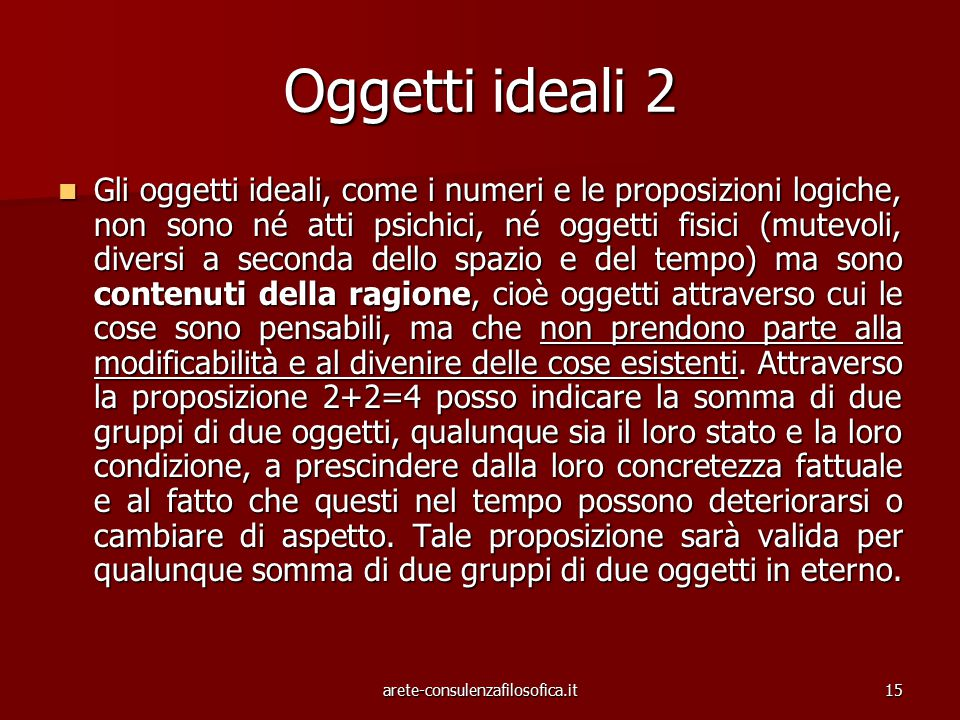 Oggetti ideali 2