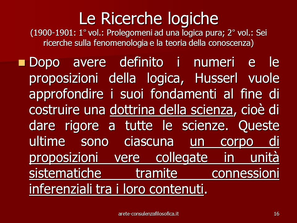 Le Ricerche logiche (1900-1901: 1° vol