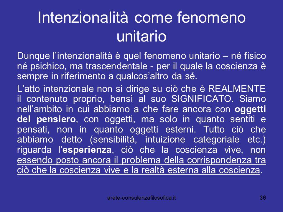 Intenzionalità come fenomeno unitario