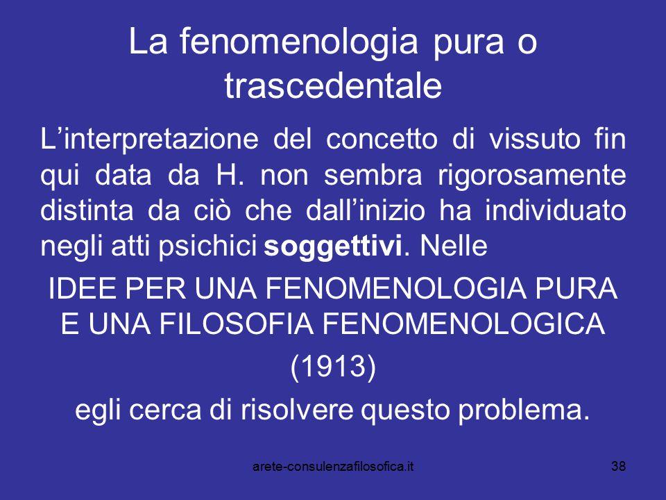 La fenomenologia pura o trascedentale