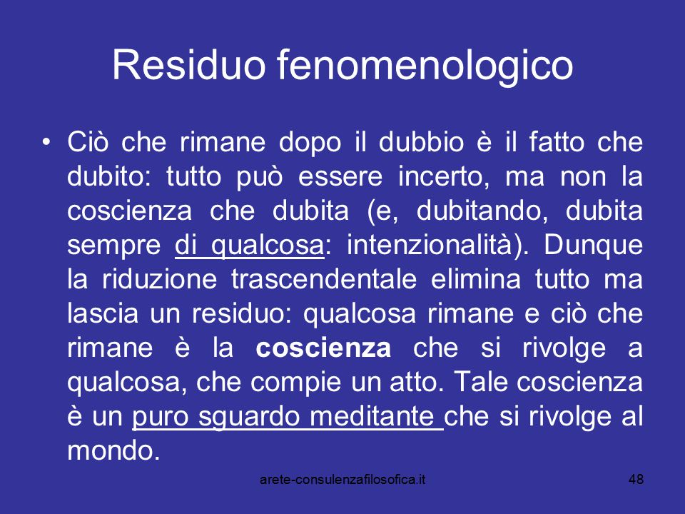 Residuo fenomenologico