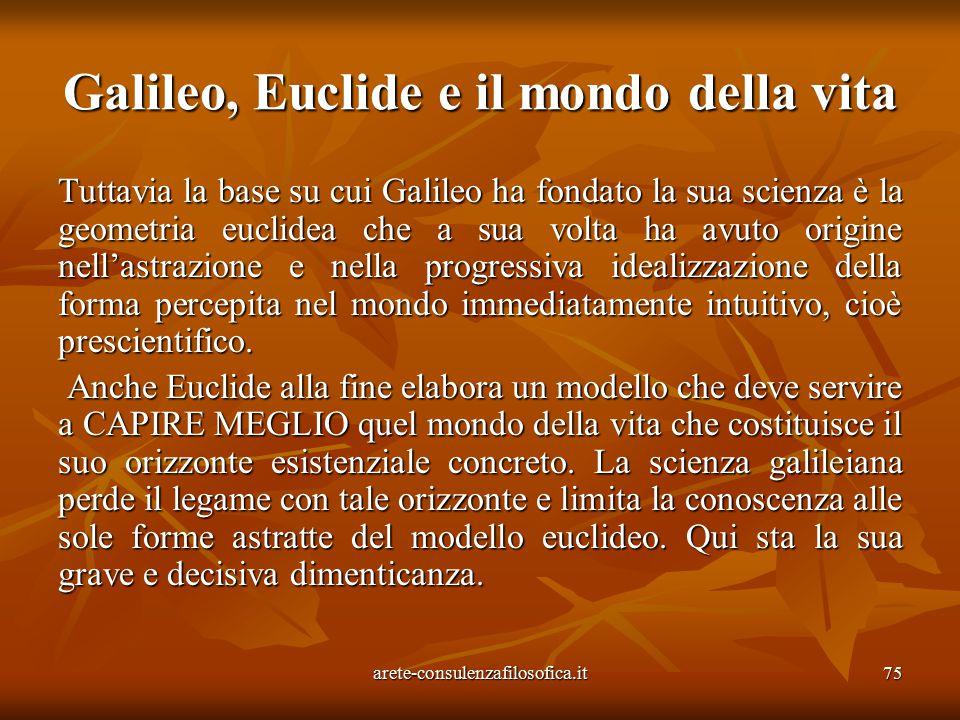 Galileo, Euclide e il mondo della vita