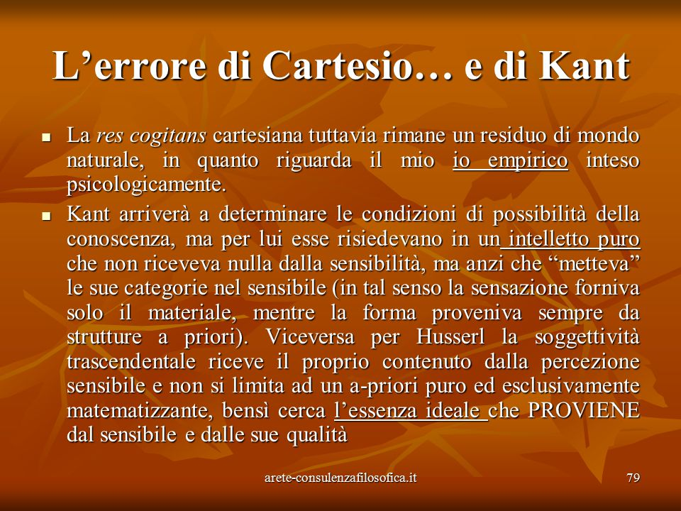 L'errore di Cartesio… e di Kant