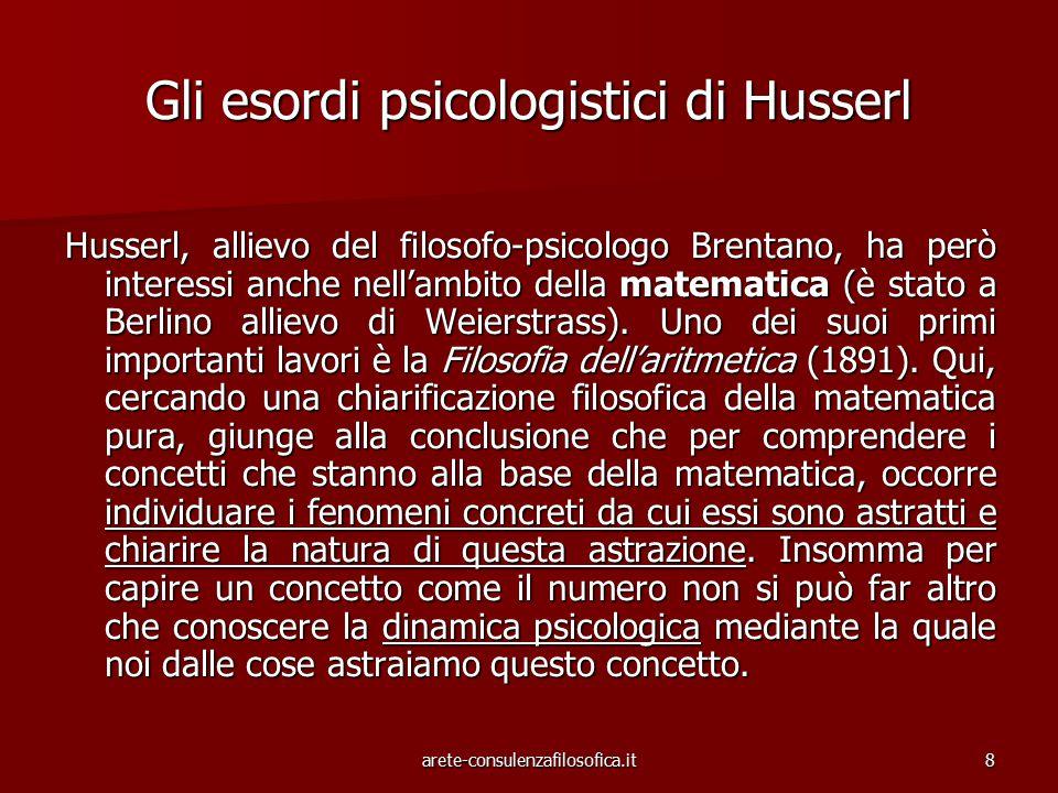 Gli esordi psicologistici di Husserl