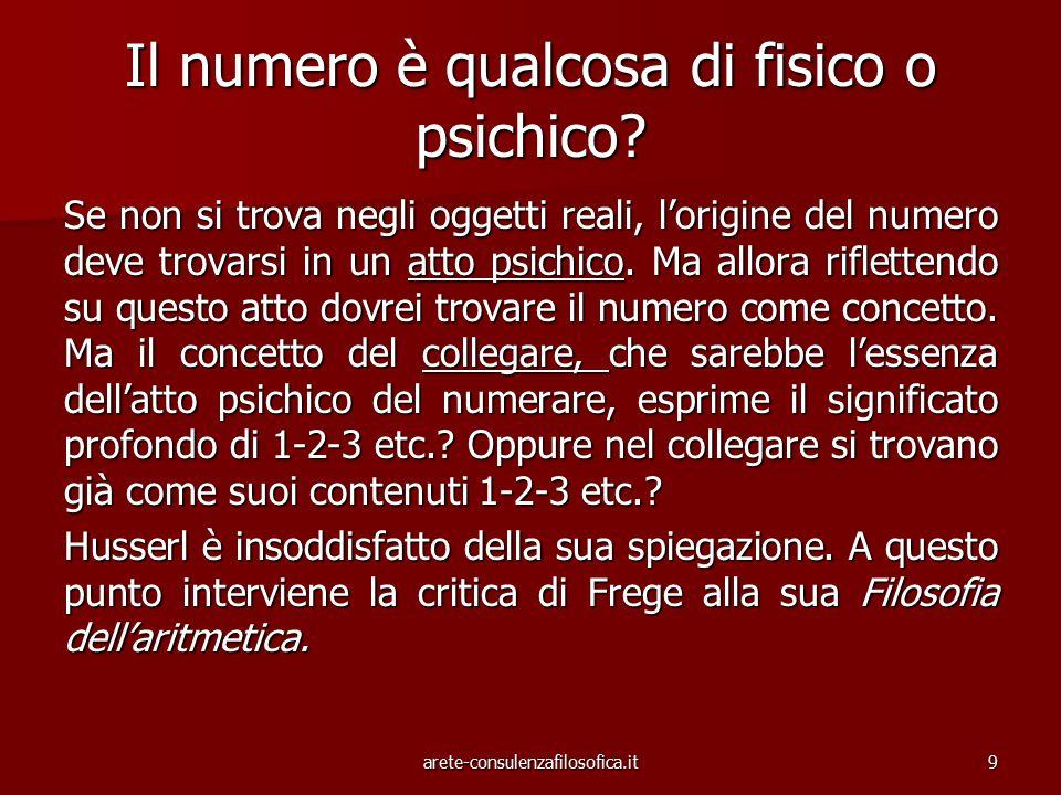Il numero è qualcosa di fisico o psichico