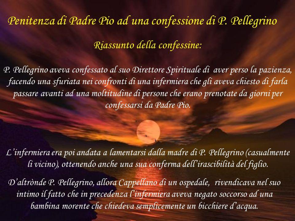 Penitenza di Padre Pio ad una confessione di P. Pellegrino