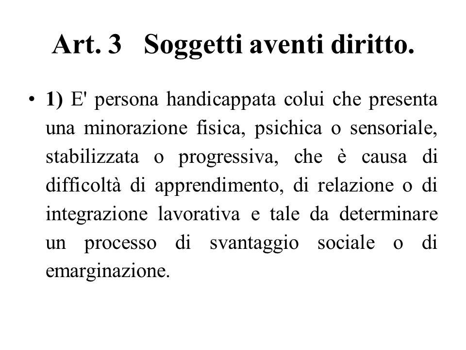 Art. 3 Soggetti aventi diritto.