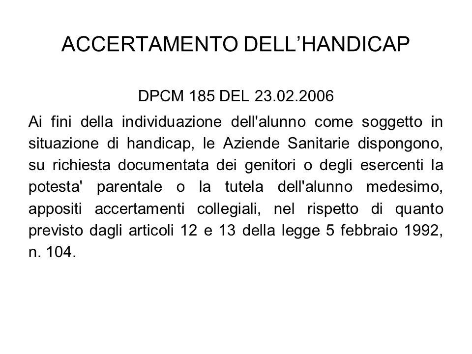 ACCERTAMENTO DELL'HANDICAP