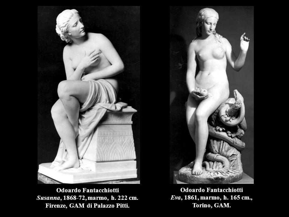 Odoardo Fantacchiotti Eva, 1861, marmo, h. 165 cm., Torino, GAM.