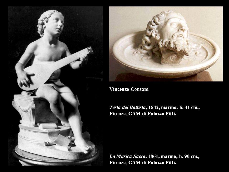 Vincenzo Consani Testa del Battista, 1842, marmo, h. 41 cm
