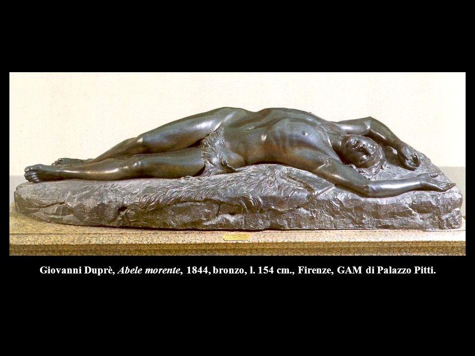 Giovanni Duprè, Abele morente, 1844, bronzo, l. 154 cm
