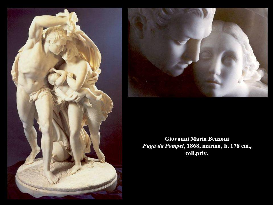Giovanni Maria Benzoni Fuga da Pompei, 1868, marmo, h. 178 cm. , coll