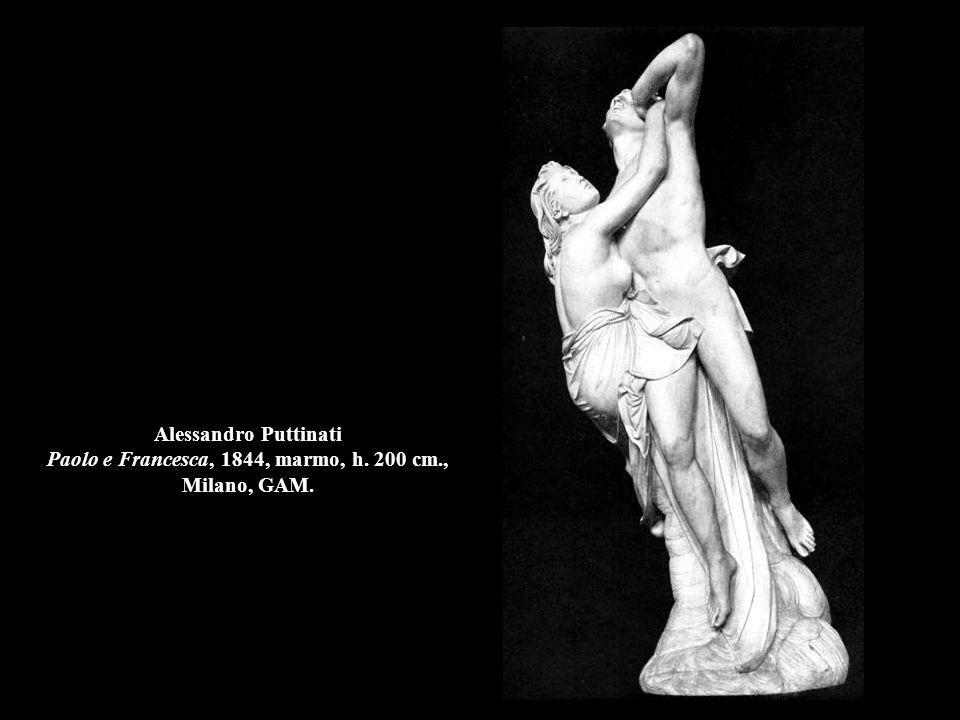 Alessandro Puttinati Paolo e Francesca, 1844, marmo, h. 200 cm