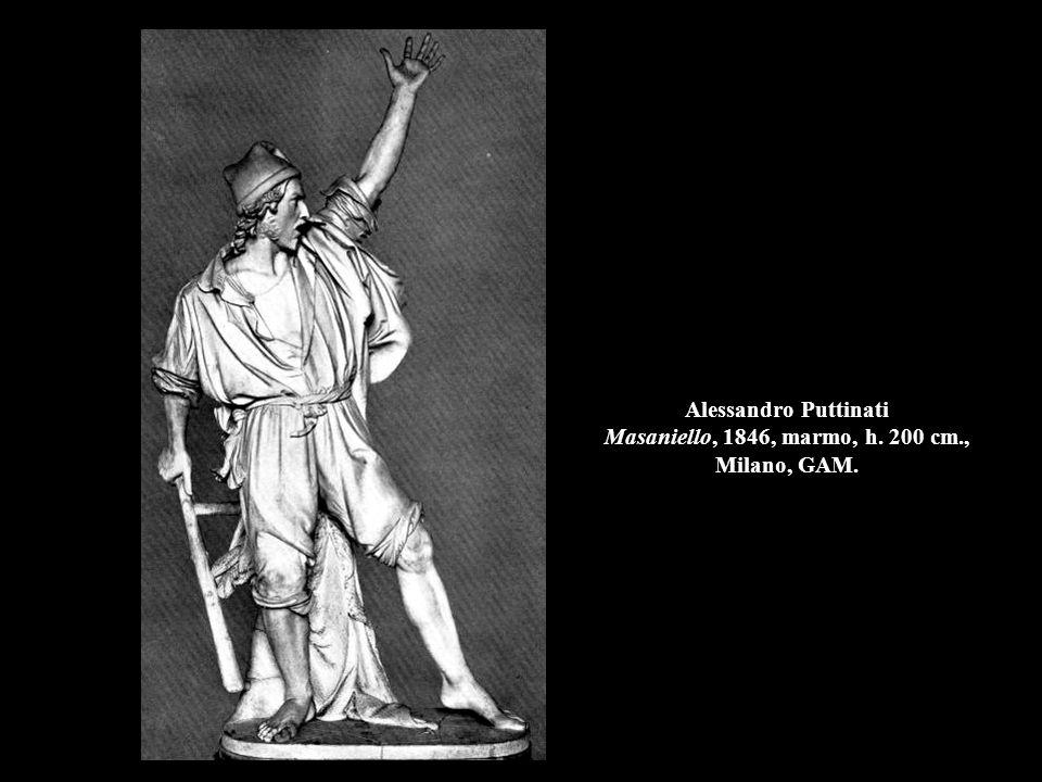Alessandro Puttinati Masaniello, 1846, marmo, h. 200 cm., Milano, GAM.