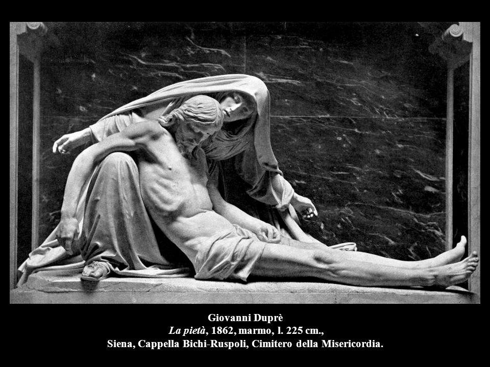 Giovanni Duprè La pietà, 1862, marmo, l. 225 cm