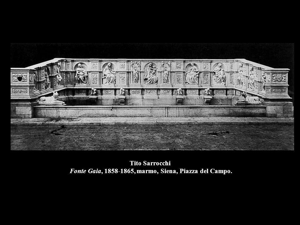 Tito Sarrocchi Fonte Gaia, 1858-1865, marmo, Siena, Piazza del Campo.