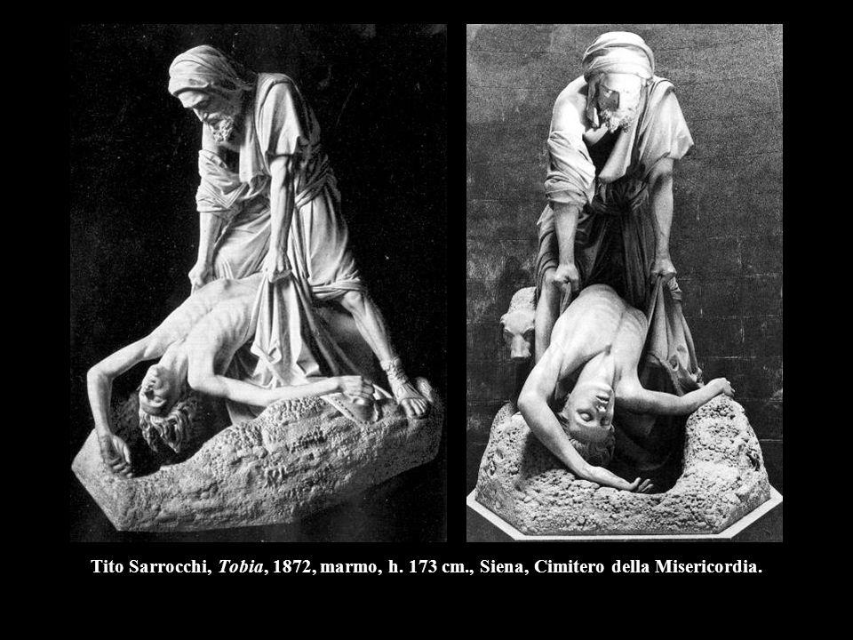 Tito Sarrocchi, Tobia, 1872, marmo, h. 173 cm